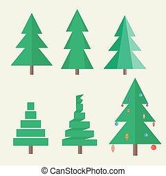 apartamento, estilo, jogo, árvore, natal