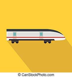 apartamento, estilo, modernos, alto, trem, ícone, velocidade