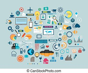 apartamento, estilo, negócio, diagrama, móvel, marketing,...