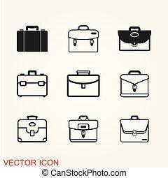 apartamento, estilo, pasta, ilustração, vetorial, desenho, ícone