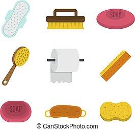 apartamento, estilo, pessoal, jogo, higiene, ícone