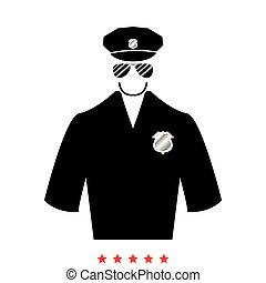 apartamento, estilo, polícia, ícone
