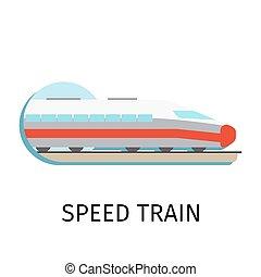 apartamento, estilo, trem, velocidade