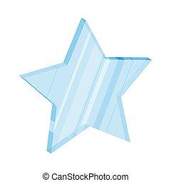 apartamento, estrela, ilustração, vidro, vetorial, design., ícone