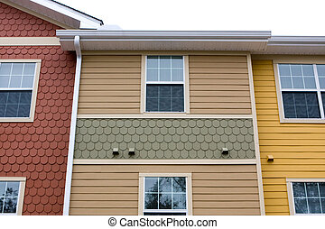 apartamento, fachada, diseño