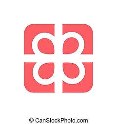 apartamento, fundo, presente, vetorial, presente, giftbox, branco vermelho, ícone