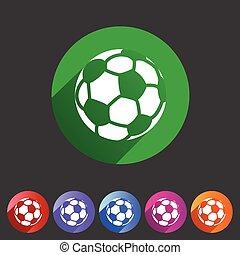 apartamento, futebol, teia, símbolo, futebol, etiqueta, logotipo, sinal, ícone