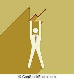 apartamento, gráfico, modernos, ilustração, vetorial, desenho, homem negócios, ícone