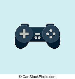 apartamento, grande, jogo, multimedia, tecnologia, ícones, conceito, uso,  , controlador, muito, jogo, more., animação, ícone