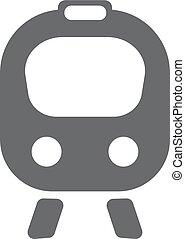 apartamento, icon., trem