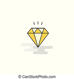 apartamento, icon., vetorial, diamante