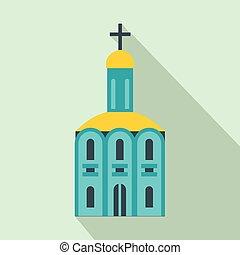apartamento, igreja, ícone