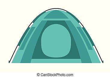 apartamento, illustration., cartaz, equipment., elemento, vetorial, desenho, card., barraca, caricatura, camping.