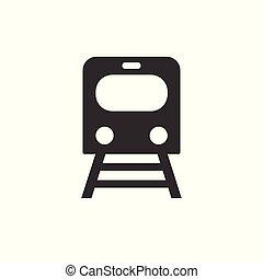 apartamento, illustration., trem, vetorial, ícone, estrada ferro, design.
