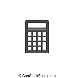 apartamento, ilustração, calculadora, negócio, vetorial, icon., design.