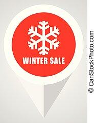 apartamento, inverno, teia, botão, modernos, venda, eps, vetorial, desenho, icon., ponteiro, vermelho, 10