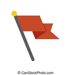 apartamento, -, isolado, ilustração, elemento, experiência., bandeira, vetorial, branca, símbolo., ícone