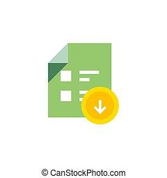 apartamento, -, isolado, ilustração, experiência., vetorial, download, branca, documento, ícone
