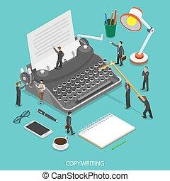 apartamento, isometric, vetorial, concept., copywriting