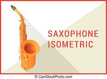 apartamento, isometric, vetorial, saxofone, 3d