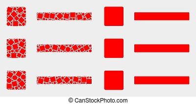 apartamento, itens, lista, vetorial, pixelated, ícone
