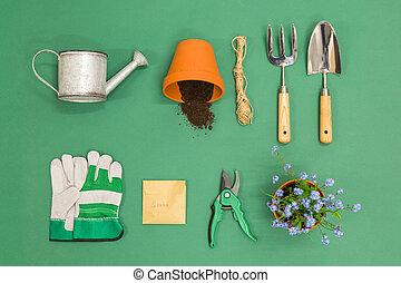 apartamento, jardinagem, configuração