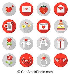 apartamento, jogo, amor, ícones, objetos, :