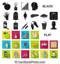apartamento, jogo, illustration., ícones, símbolo, tratamento, cobrança, bitmap, teia, diabetes, design., estoque