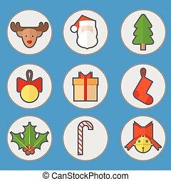 apartamento, jogo, Natal, ícone