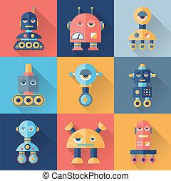 apartamento, jogo, robôs, style.