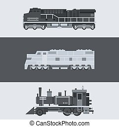 apartamento, jogo trem, desenho, locomotiva