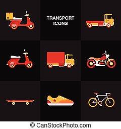 apartamento, jogo, veículo, transporte, ícone
