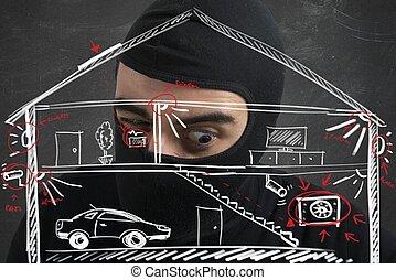 apartamento, ladrón