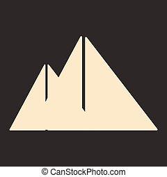 apartamento, móvel, aplicação, pretas, piramides, branca, egito
