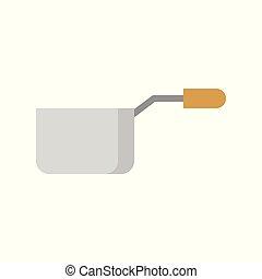 apartamento, madeira, utensílio, punho, panela, cozinha, ícone
