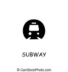apartamento, metrô, ícone, vetorial
