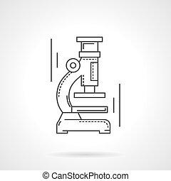 apartamento, microscópio, vetorial, desenho, linha, ícone