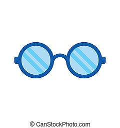 apartamento, moda, olho, -, símbolo., ilustração, isolado, experiência., vetorial, óptico, ícone, branca, óculos