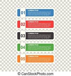 apartamento, negócio, estilo, opções, banner., vetorial, ilustração, para, diagrama, número, opções, passo, cima, opções, teia, modelo, infographics