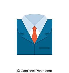 apartamento, negócio, -, isolado, ilustração, experiência., vetorial, paleto, branca, ícone