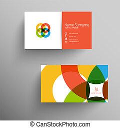 apartamento, negócio, modernos, usuário, modelo, interface, cartão