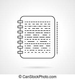 apartamento, nota, vetorial, desenho, linha, ícone
