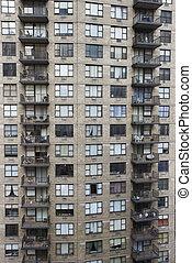 apartamento, nyc., edificio