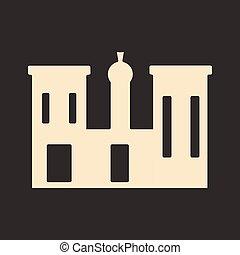 apartamento, palácio, móvel, aplicação, pretas, branca, egito