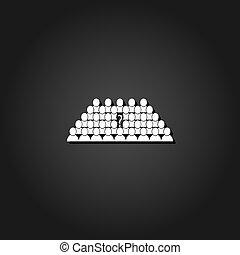 apartamento, pessoas negócio, marca, pergunta, líder equipe, ícone