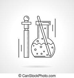 apartamento, pharmacology, vetorial, desenho, linha, ícone