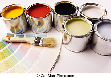 apartamento, pintura, pintura, terreno