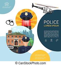 apartamento, polícia, composição