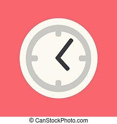 apartamento, relógio, ilustração, vetorial, tempo, icon.