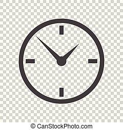 apartamento, relógio, isolado, ilustração, experiência., vetorial, ícone, design.
